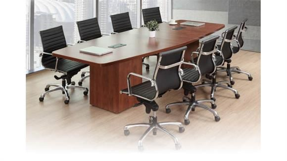 12u0027 Boat Shaped Conference Table With Cube Bases Cherry By Office Source    1 800 460 0858   Free Shipping   Office Furniture 2go.com