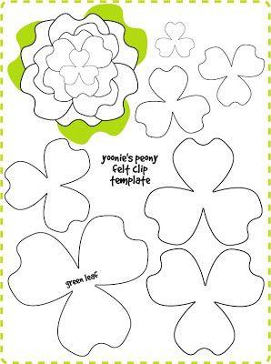 Image Result For Paper Flower Template Felt Flowers Patterns