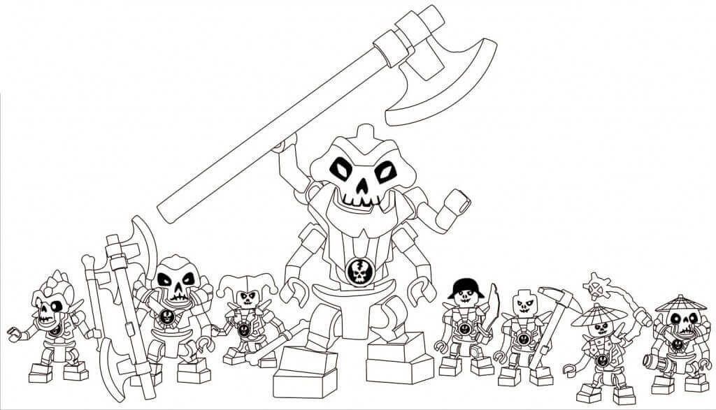 Lego Ninjago skeleton army Coloring Page