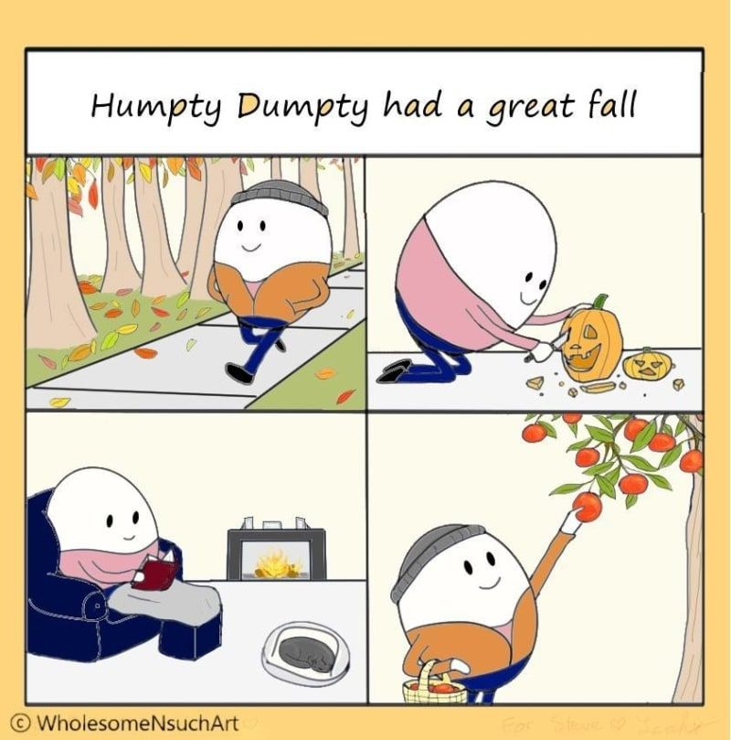 This Ridiculously Charming Fall Comic Turned Into A Wonderfully Wholesome Meme #fallmemes