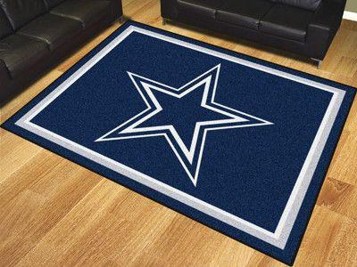 Nfl Dallas Cowboys 8 X10 Rug Dallas Cowboys Decor Cowboy Rugs Dallas Cowboys Room