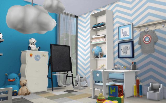Chambre Garcon Sims 4 Chambre Enfant Moderne Idee Plan Maison Chambre Garcon Moderne