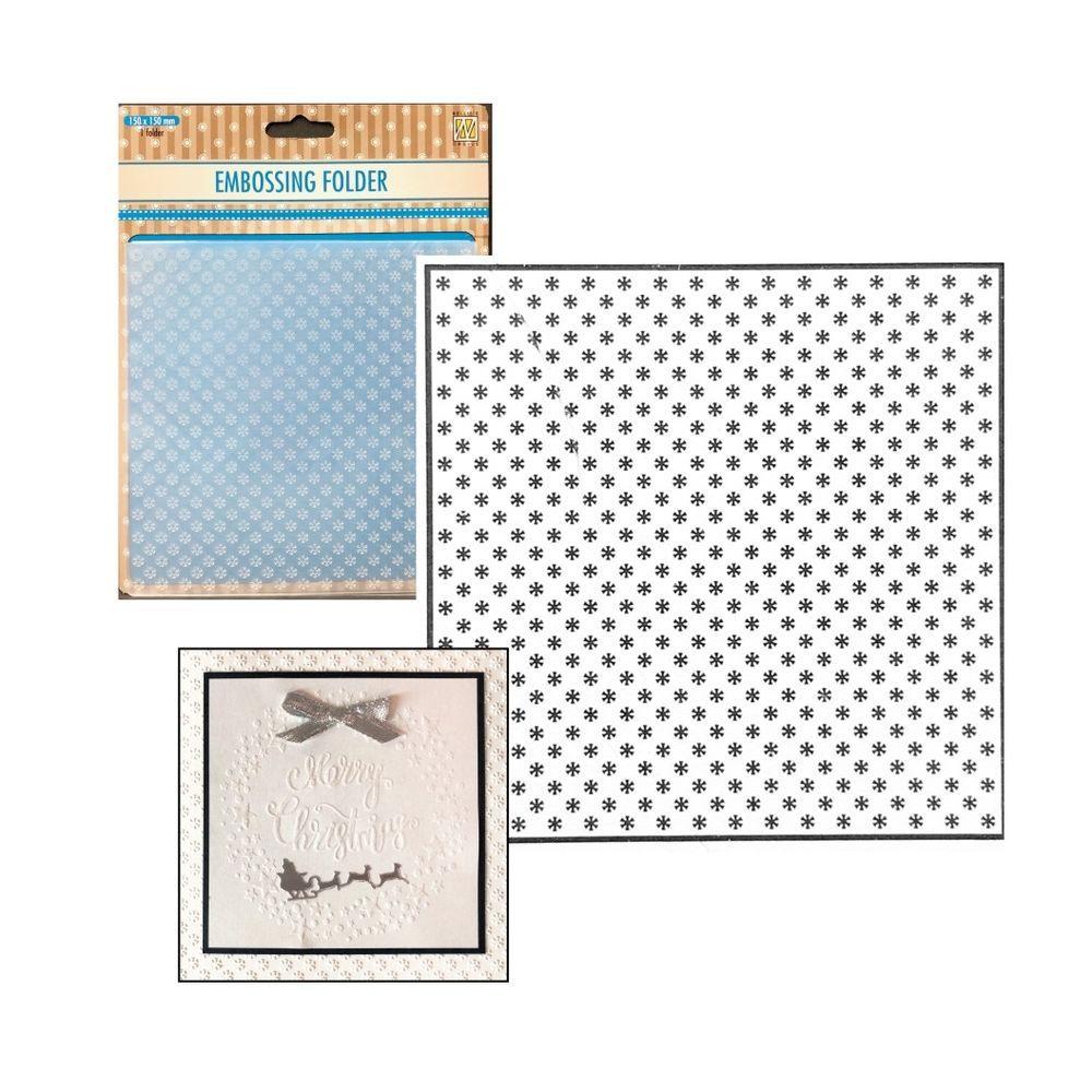 Christmas Embossing Folders Little Snowflakes Nellie Snellen Folder 6x6