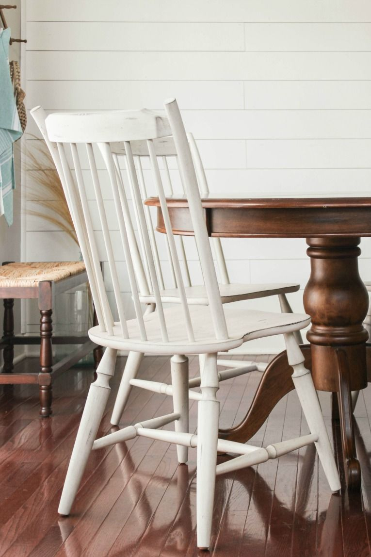 love how these white windsor style chairs added farmhouse charm to rh pinterest com