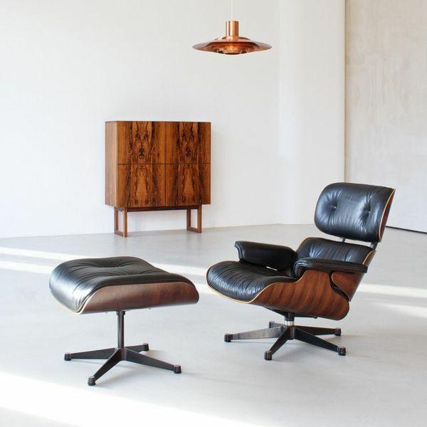 Hervorragend Designer Sessel Charles Eames Lounge Chair Wohnzimmermöbel Ledersessel