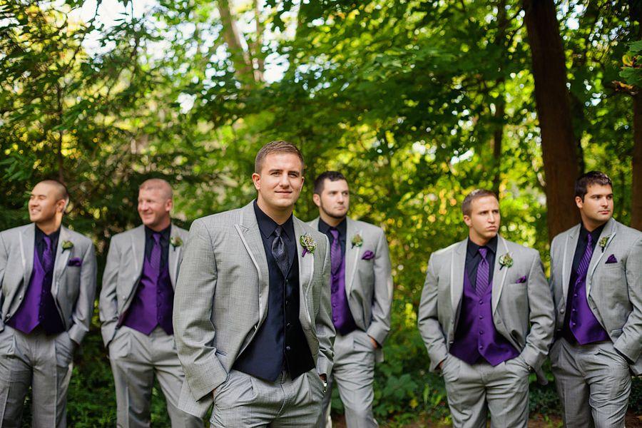 groom and groomsmen black purple and grey groomsmen succulents phren exquisite photography