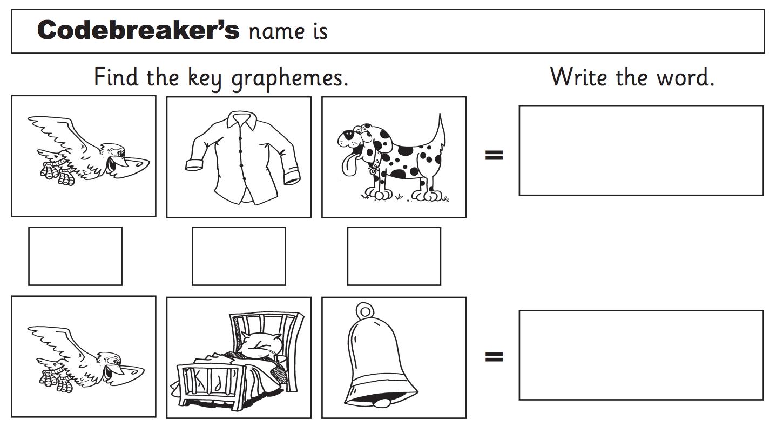 Thrass Code Breakers Worksheets