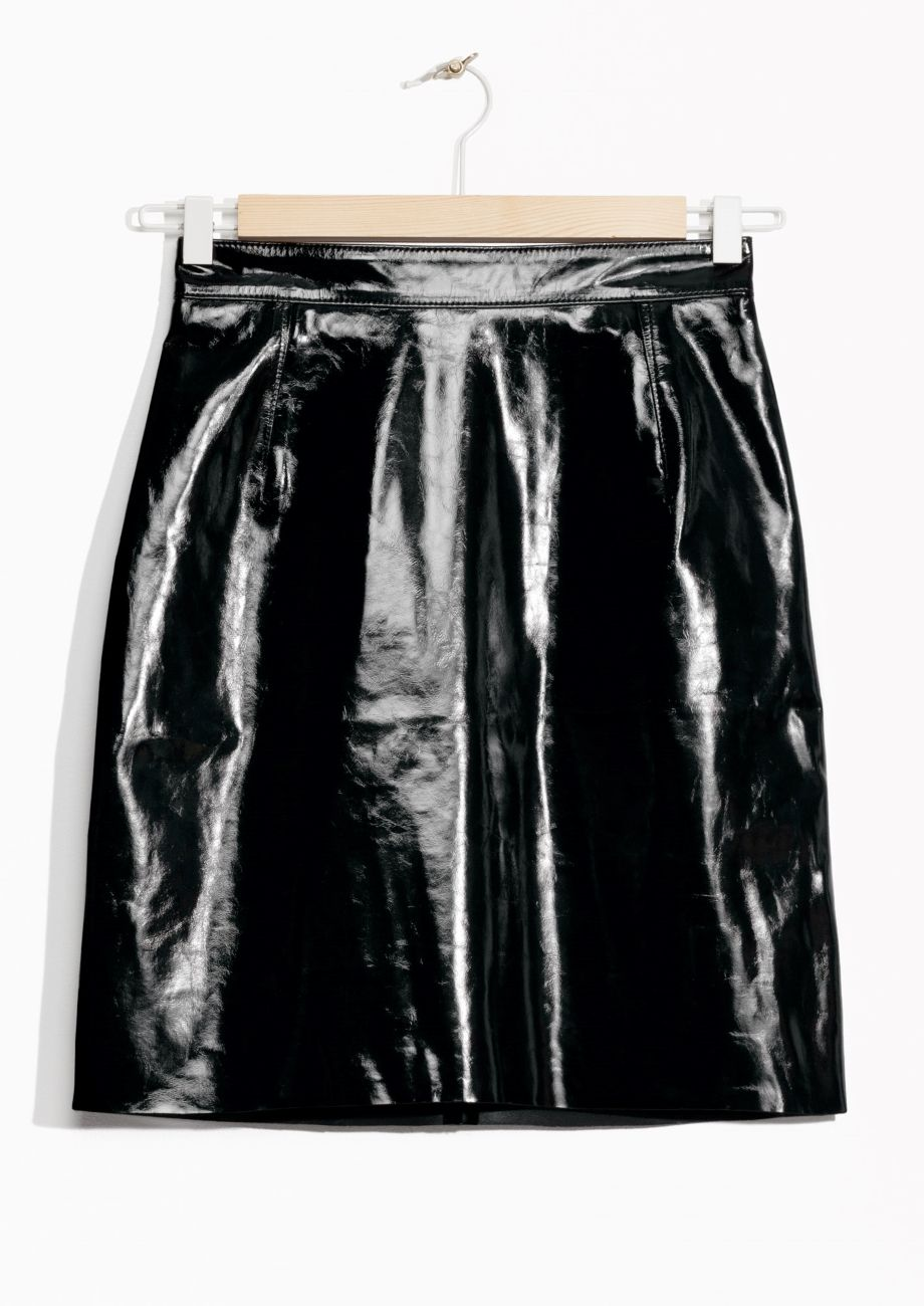 Patent Leather Skirt | Black | Leather skirts and Patent leather