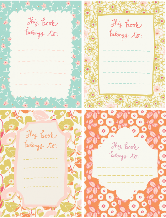 FREE Printable Bookplates For Members {september Roost Tribe Recap}  Name Labels Templates Free