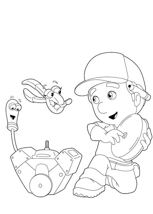 Handy Manny With Felipe And Squeeze Coloring Pages Handy Manny