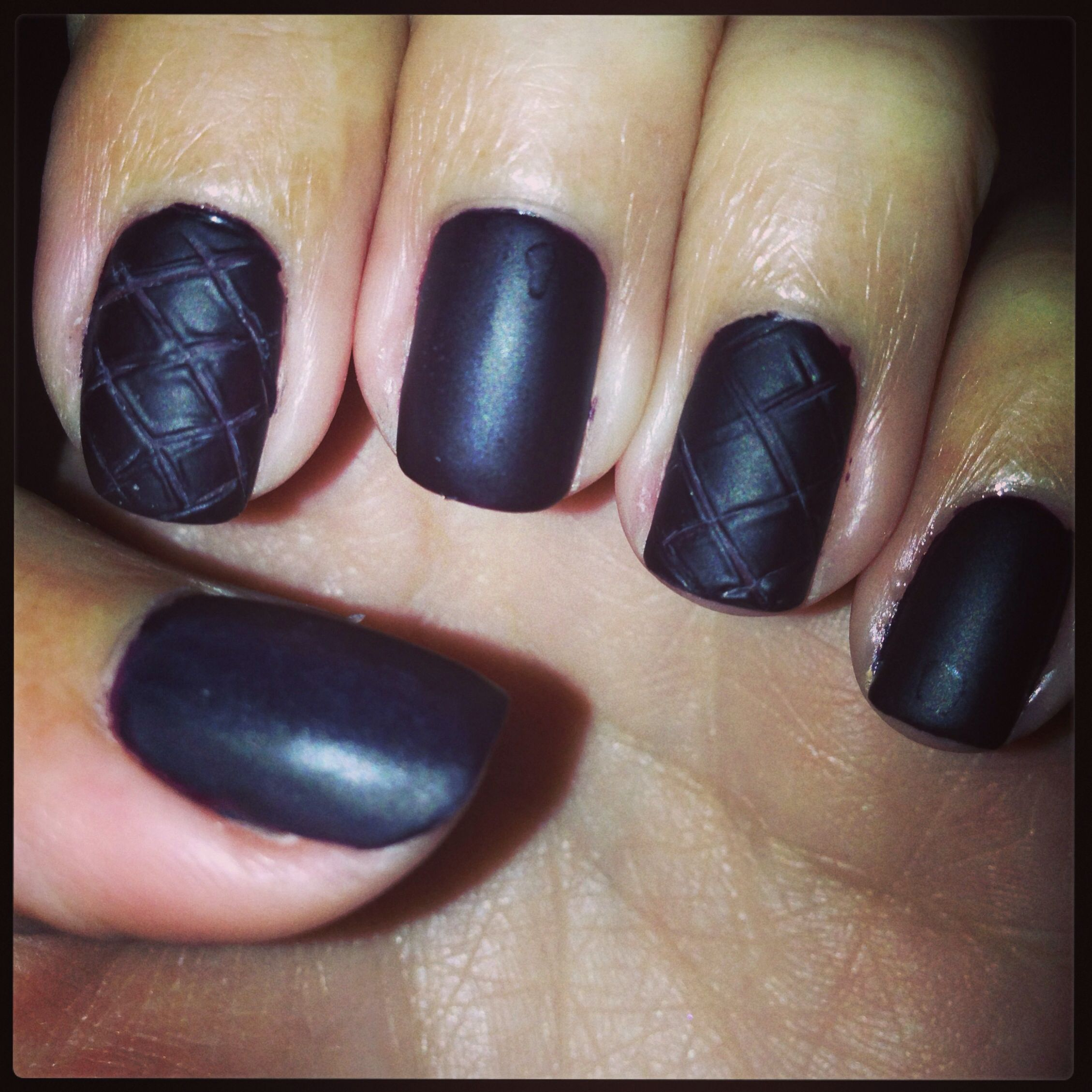 Fall plum matte nail designs with texture | Nails design by me ...