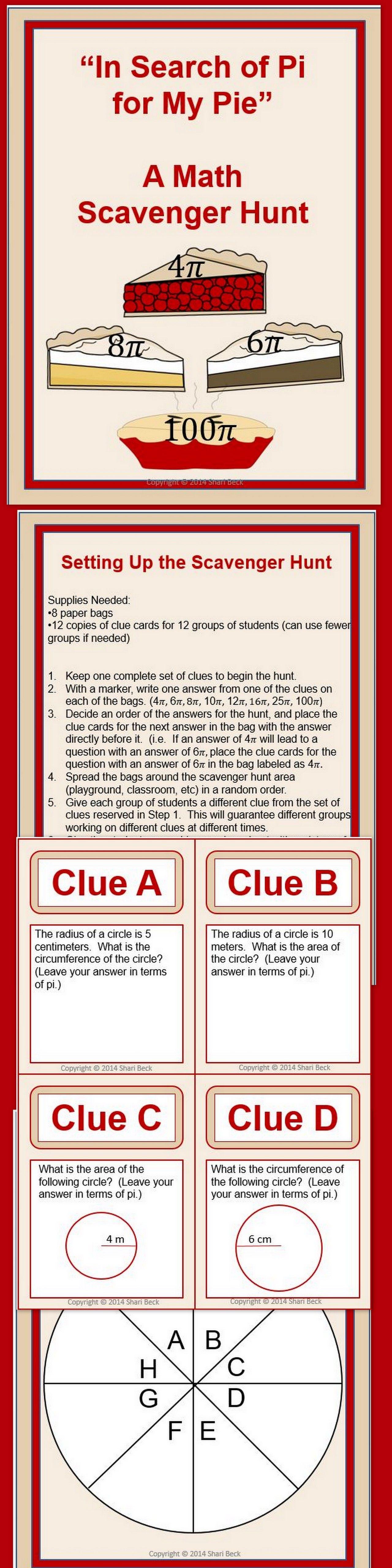 National Pi Day Scavenger Hunt Math High School Math Middle School Math [ 5120 x 1280 Pixel ]