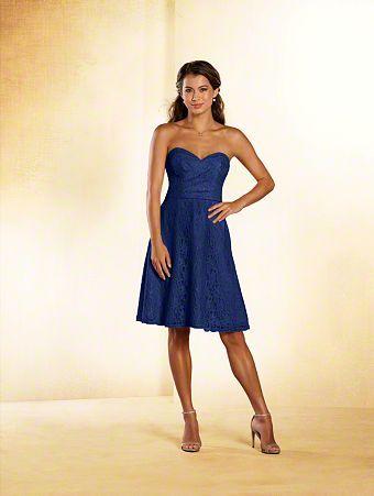 13f1aa7e814 A short princess bridesmaid dress with strapless