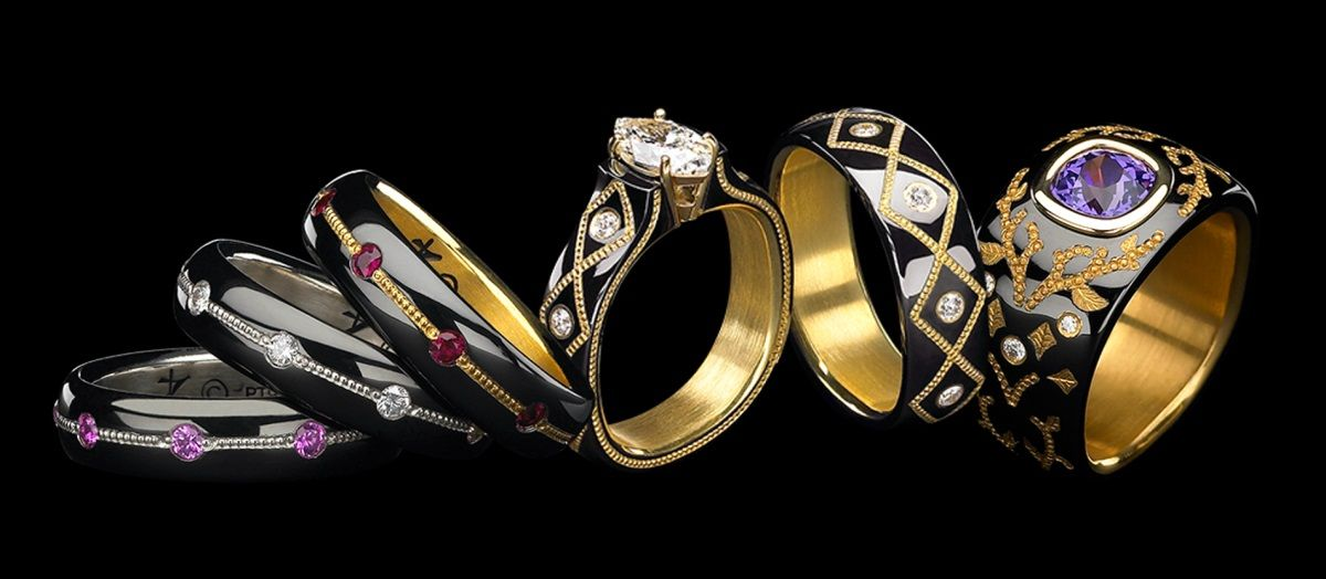Rings from the 'Knight Dreams' collection by Zoltan David