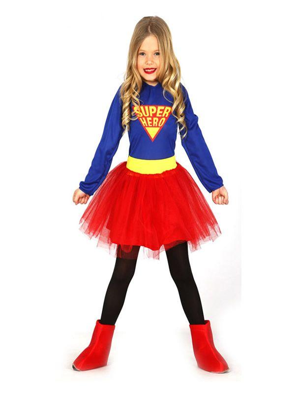 El Disfraz De Supergirls Con Tutu Nina Incluye Vestido En
