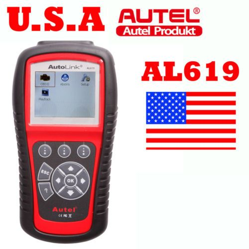 USA Ship Autel AutoLink AL619 OBDII CAN ABS and SRS Code Scanner