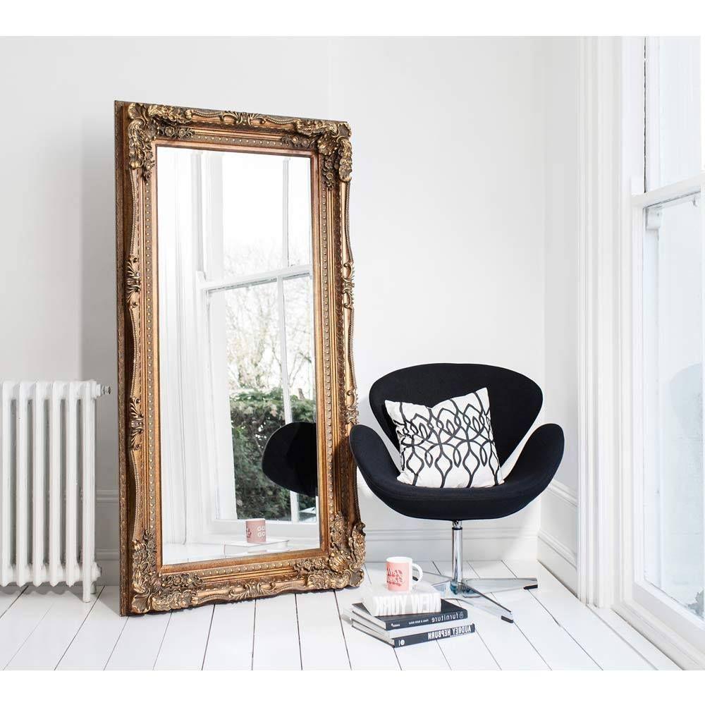 DoubleFramed Marquise Gold Mirror Luxury Mirror