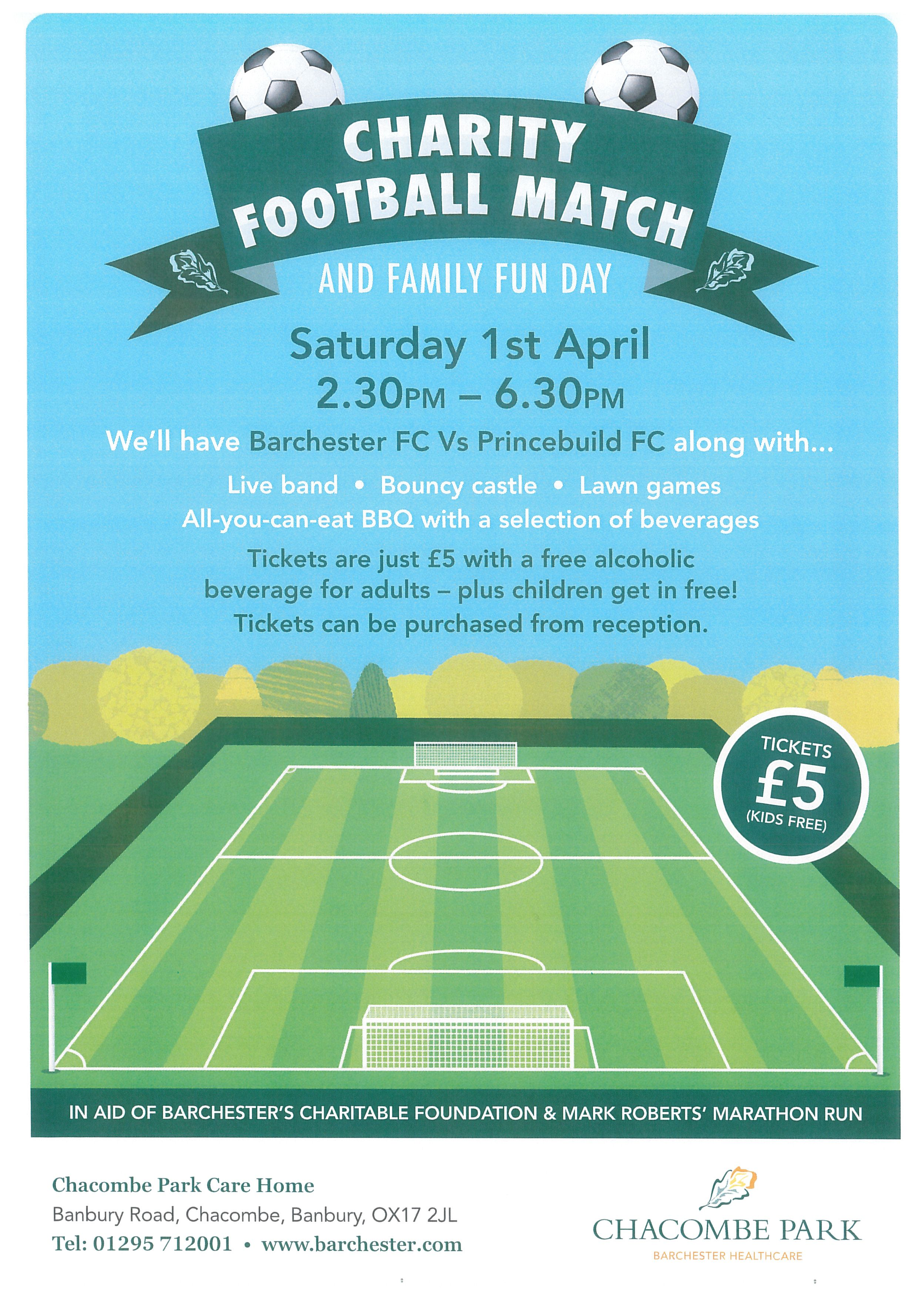 Charity football match and family fun day at Park