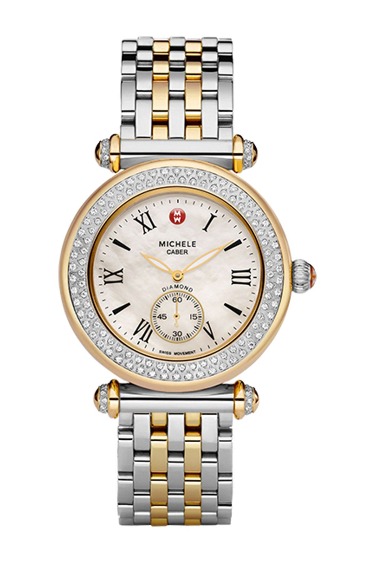 46037b451 Women's Caber Two-Tone Diamond Bracelet Watch - 0.33 ctw by Michele on  @nordstrom_rack