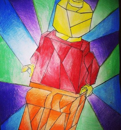 Cubist Color Theory Painting Artsonia