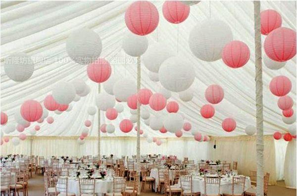 10  Papierlaterne Hochzeitsfest Dekoration Rosa
