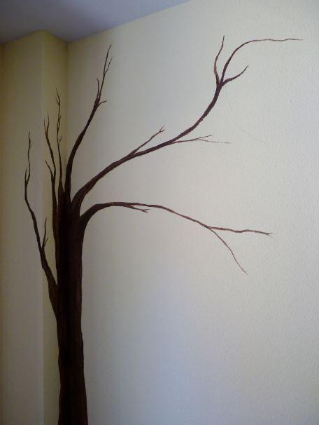 Dise os de arboles pintados en paredes buscar con google - Dibujos para pintar paredes ...