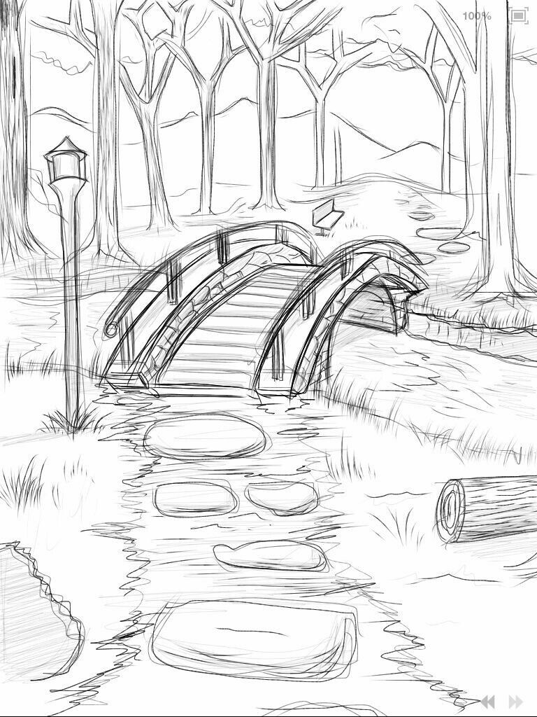 River drawing bridge drawing how to draw better simple drawings cute drawings