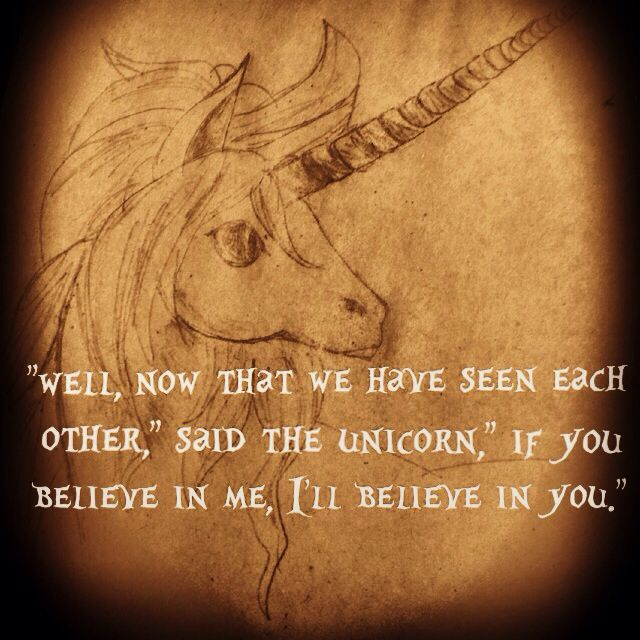 Believe In Unicorns Lewis Carroll Happy Thoughts Quotes