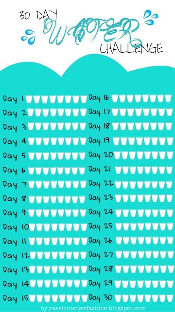 30 DAY WATER CHALLENGE   free printable water tracker #watertrackerbulletjournal