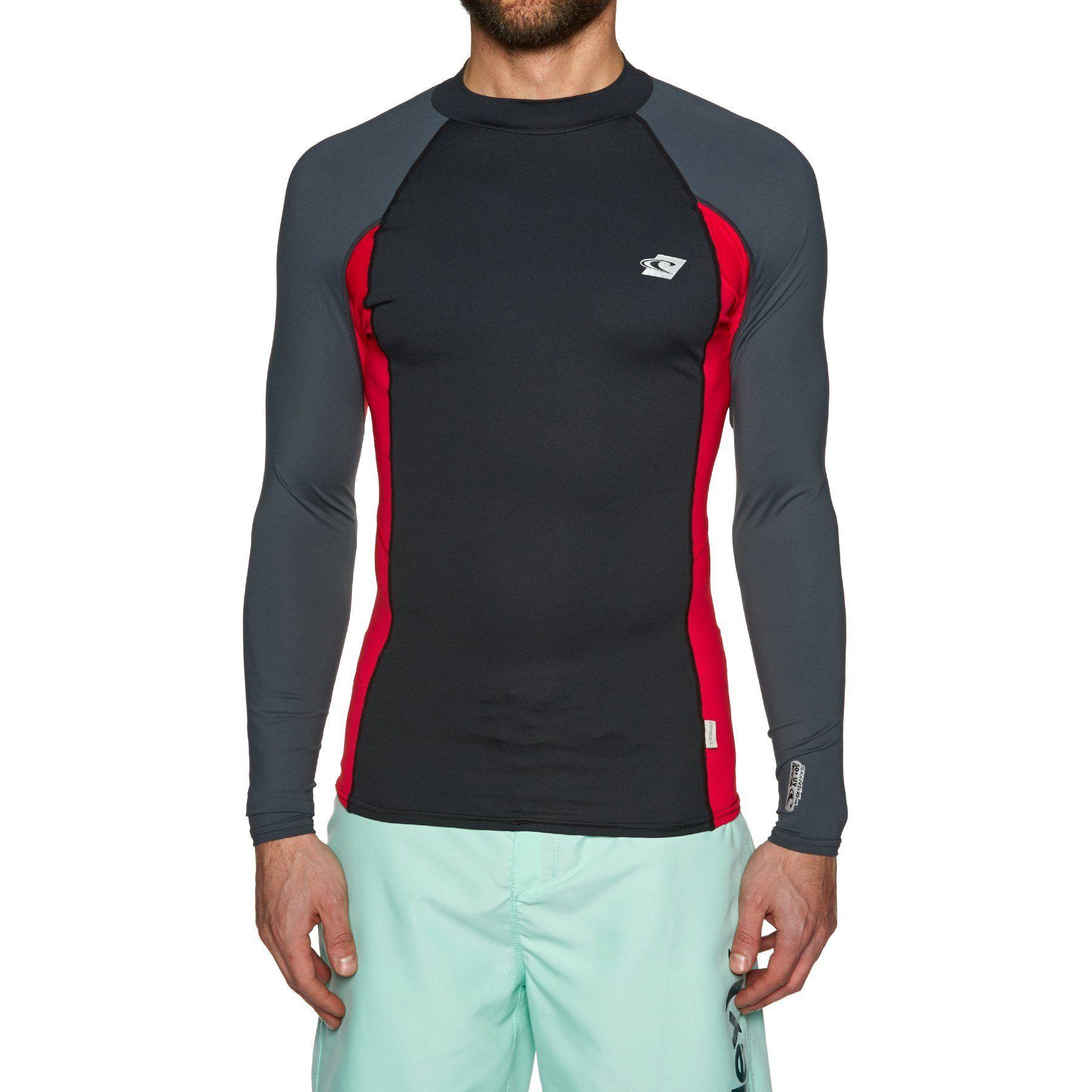 Long Sleeve Rash Guard ONeill Wetsuits Mens Oneill Premium Skins UPF 50