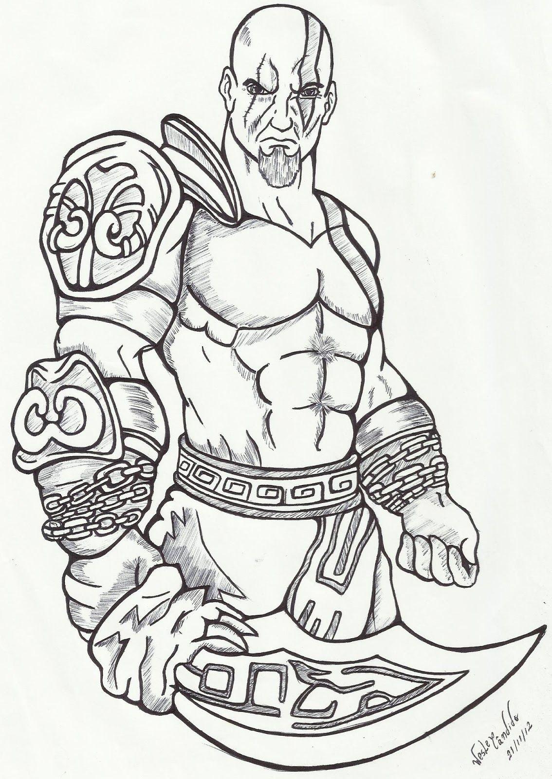 Resultado De Imagem Para Desenho Do God Of War Para Pintar