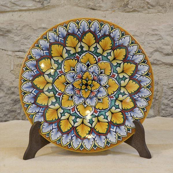 GORGEOUS!! Hand-made, hand painted decorative plate, 17\