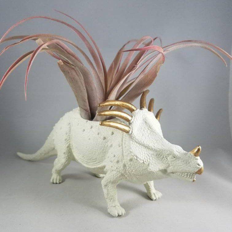 Large Dinosaur planter Unique dinosaur planter Hand