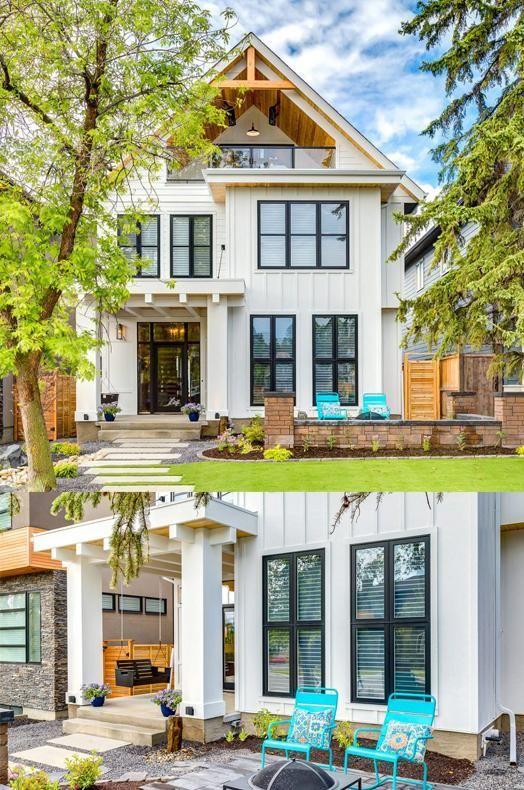 Modern farmhouse by trickle creek designer homes also cool exteriors rh pinterest