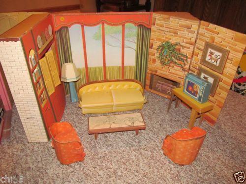 1963 Vintage Barbie's New Dream Doll House Mattel