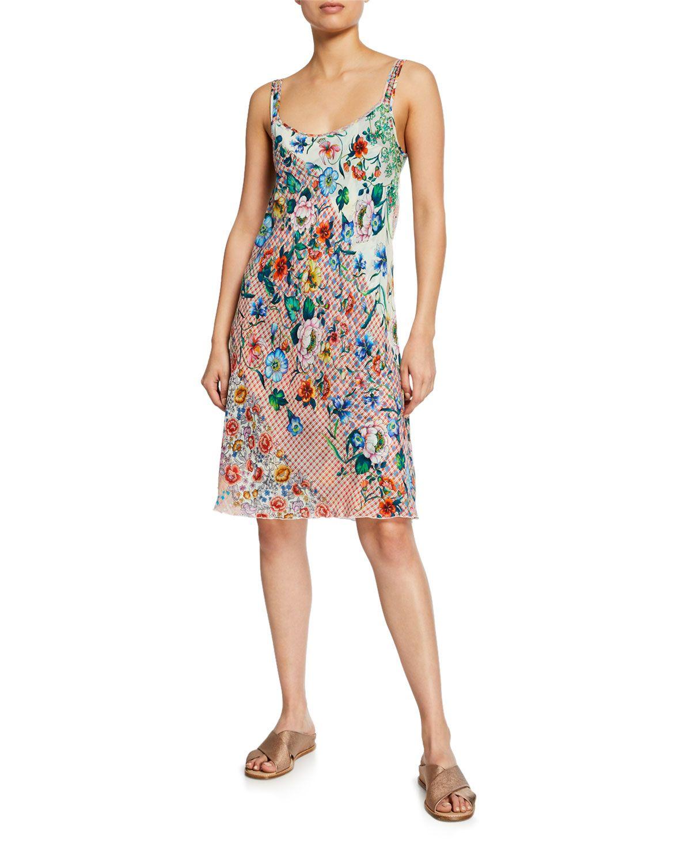 5a9b5159c6b Johnny Was Biana Printed Reversible Georgette Tank Dress | Neiman Marcus