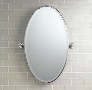 Vintage Oval Pivot Mirror Traditional Bathroom Mirrors By Restoration H