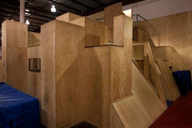 Parkour Gym Walls Ledges