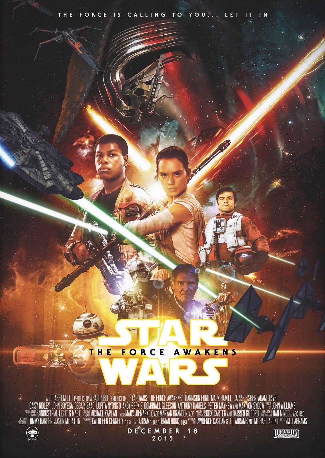Star Wars: The Force Awakens | KEY ART | Star Wars, Star wars ...