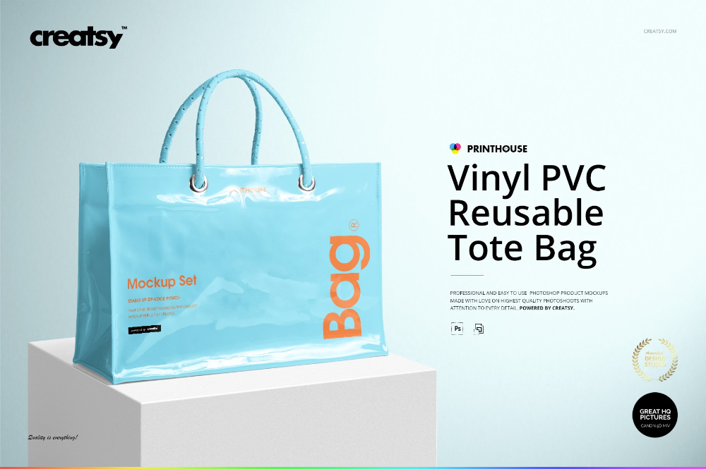 Download Vinyl Pvc Reusable Tote Bag Mockups Bag Mockup Tote Bag Reusable Tote Bags