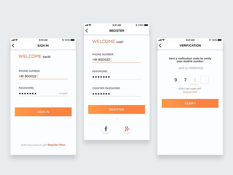 Login Screens | Mobile UI | Mobile ui, Saint charles, Screen