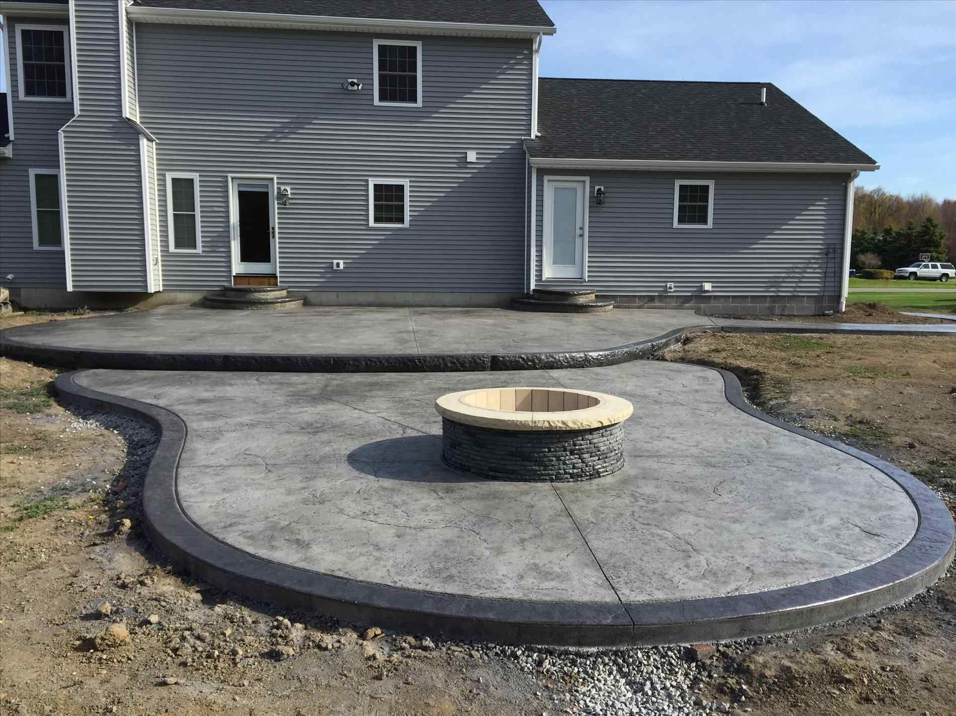 92 reference of simple stamped concrete patio designs in ... on Simple Concrete Patio Designs id=76873