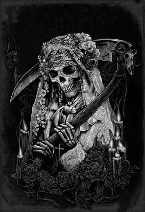 La Muerte En Bicicleta Skull Power Pinterest Santa Muerte Santa And Tattoo