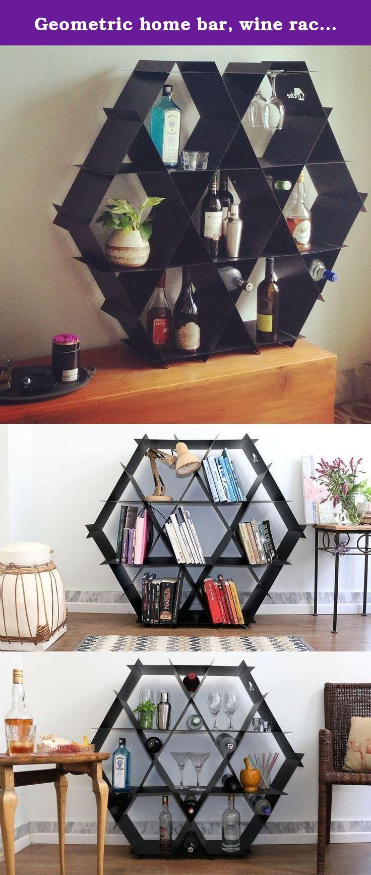Geometric Home Bar Wine Rack Bookcase Bar Display Shelving Unit Hexagonal Shelf Honeycomb Shelves Diy Home Bar Furniture Honeycomb Shelves Cubby Shelves