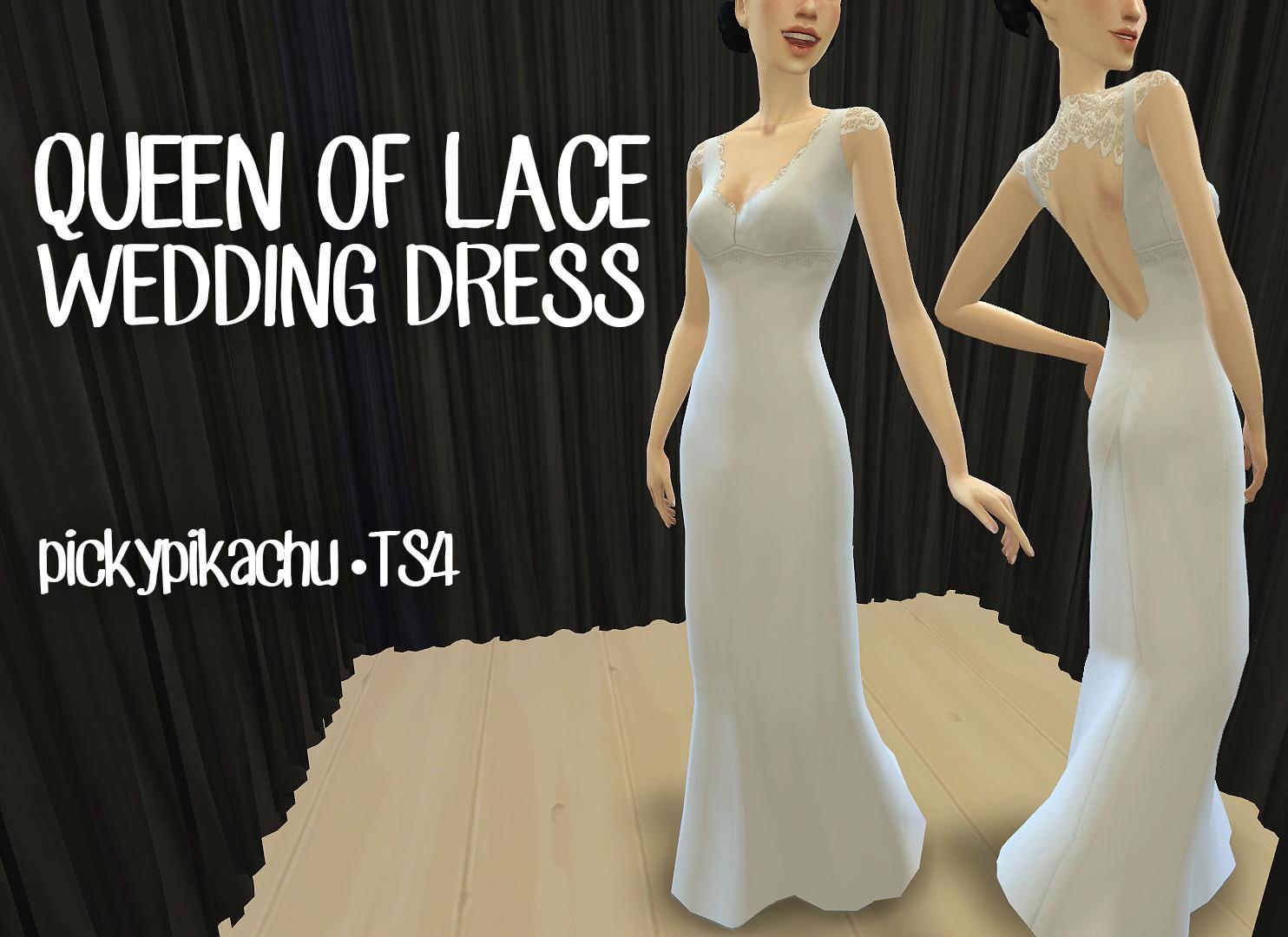 Sims 4 lace dress modest