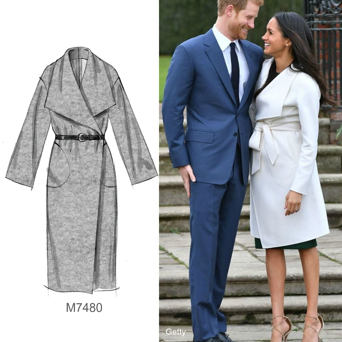 Sew the Look(tm): Make a coat similar to Meghan Markle\'s with ...