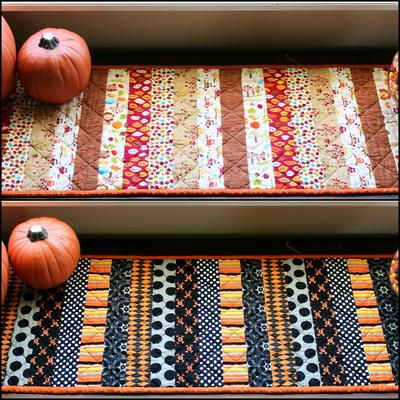 Reversible Holiday Table Runner For Halloween And