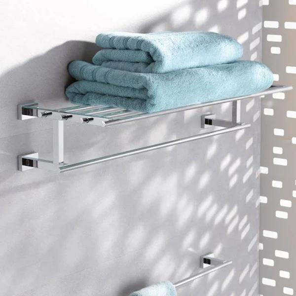 Grohe Essentials Cube Multi Towel Rack 600 Mm Bathroom Accessories Towel Rack Grohe Towel