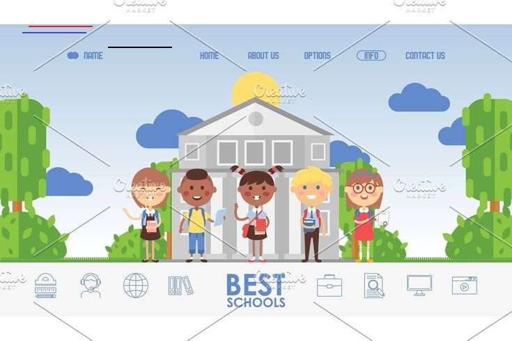 Education for children, school #School, #Education, #Children, #Website, #Vector, #Illustration, #Kids, #Cartoon, #Character, #Happy, #Smiling, #Cheerful, #Friendly, #Class, #Group, #Equality, #Diversity, #International, #Icon, #Symbol, #Emblem, #Label, #Pictogram, #Sign, #Landing, #Page, #Web, #Site, #Design, #Template, #Online, #Internet, #Boy, #Girl, #Knowledge, #Student, #Learning, #Study, #Information, #Smart, #Intelligent, #Clever, #Program, #Flat, #Outdoor, #Building, #Landscape, #Style,