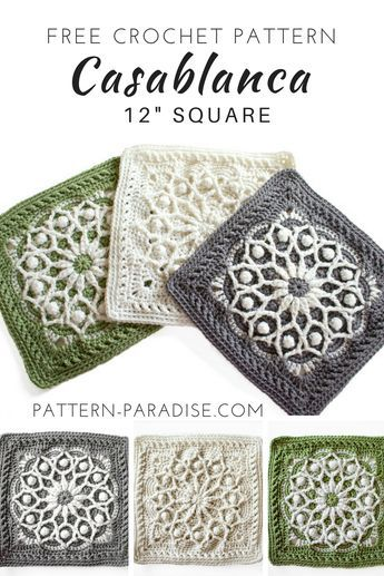 Free Crochet Pattern: Casablanca Crochet Square
